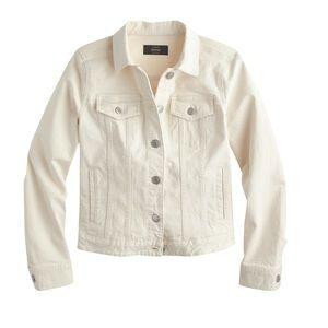 J.Crew Denim Jacket In Ecru Wash Size XL